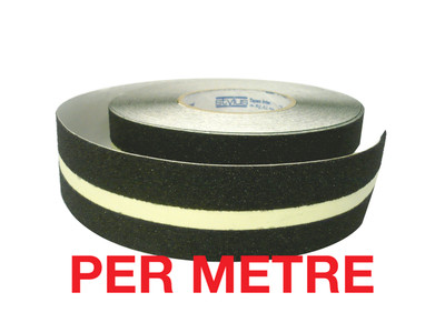 50mm Anti-Slip Tape BLACK/LUMINOUS - PER METRE