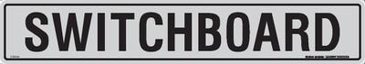 SWITCHBOARD 475x85 BLK/SILVER 1mm ALUM