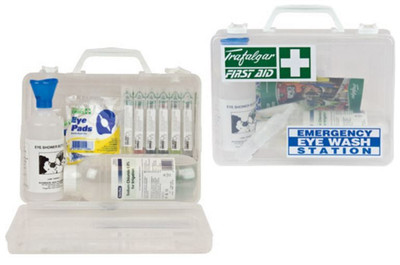 Emergency Eye Wash Station (clear plastic case) 250x200x90mm