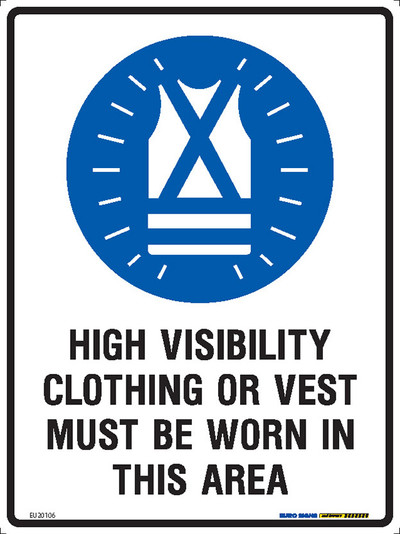 HI-VIS MUST BE WORN IN THIS AREA 225x300 MTL