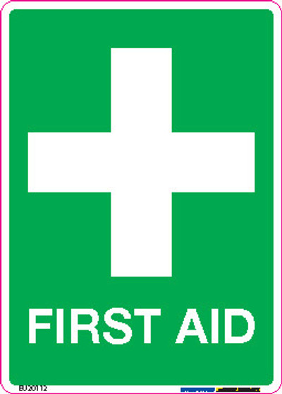 FIRST AID 90x125 DECAL
