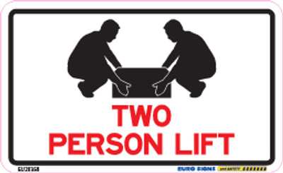 TWO PERSON LIFT 90x55 DECAL