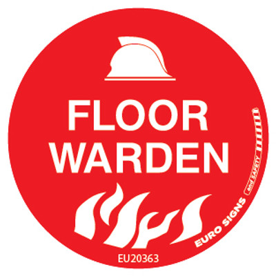 FLOOR WARDEN 50MM DECAL