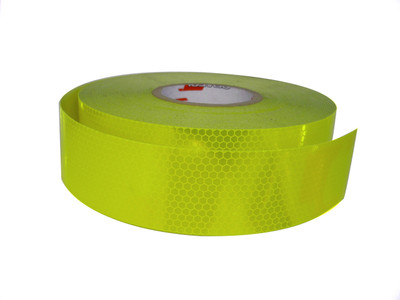 50mm Class 1 Tape FLUORO YLW-GRN 50 metre ROLL