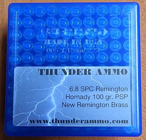 6.8 Rem SPC New Remington Brass 100 gr Hornady 100 Rounds