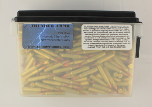 223 55gr V-Max in New Winchester Brass Precision Ammo 500 Rounds