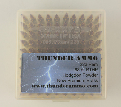 223 68gr BTHP New Premium Brass 100 Rounds