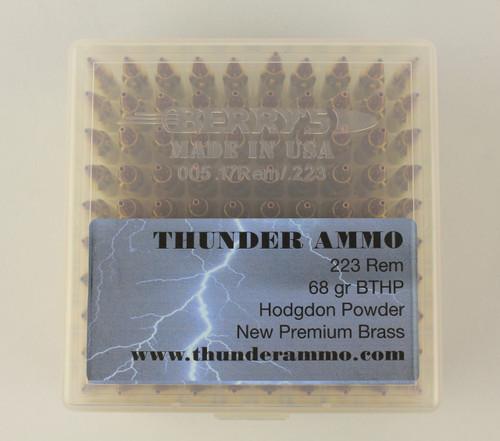223 68gr BTHP New Premium Brass 100 Rounds