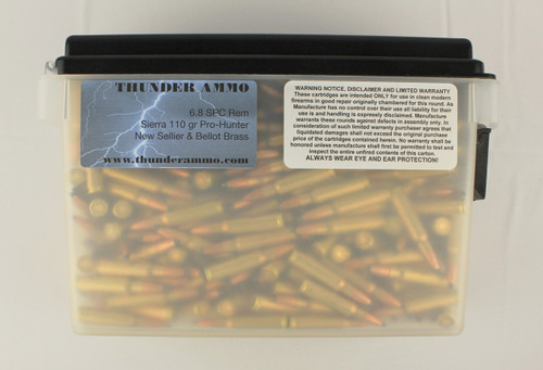 6.8 Rem SPC New Remington Brass 110 gr PSP Hornady 400 Rounds