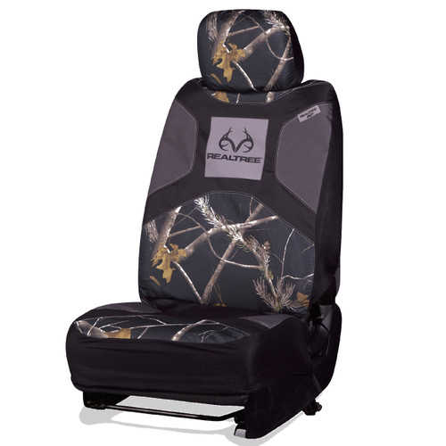 Realtree Black Camo Low Back Bucket Seat Cover