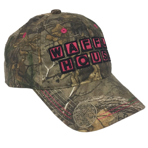 Ladies Waffle House Cap with Hot Pink Accents
