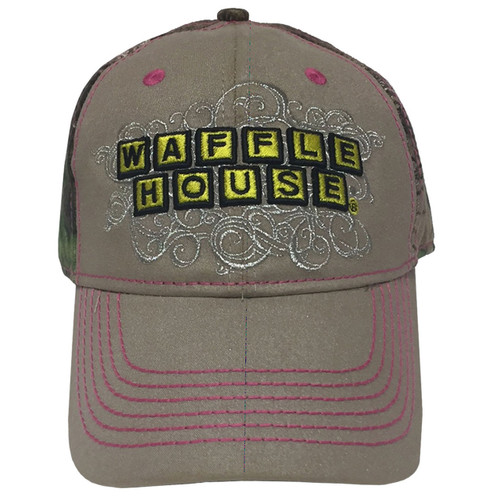 Ladies Xtra Green Waffle House Silver Scroll Cap