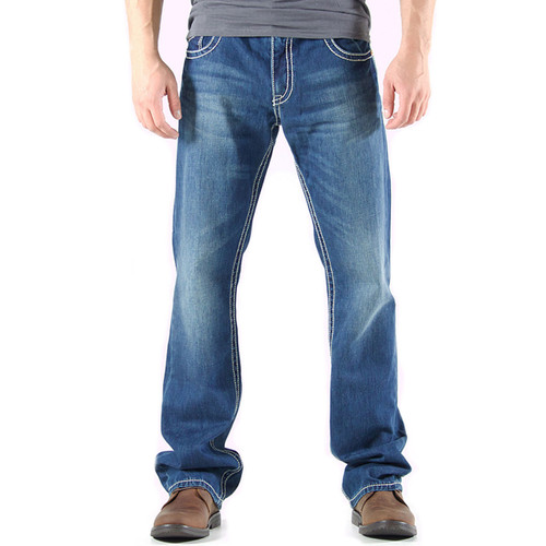 Realtree Accented Boot Cut Denim Jeans Front Image