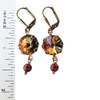 Volcano Rivoli Crystal Simulated Pearl Vintage Earrings with Crystal from Swarovski