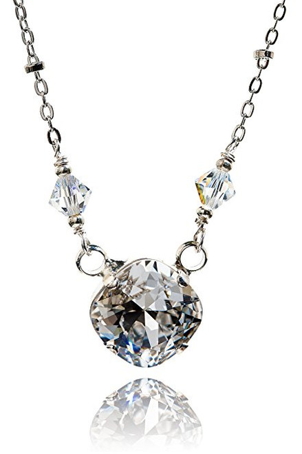 Cushion Cut Square Stone Crystal Pendant Necklace