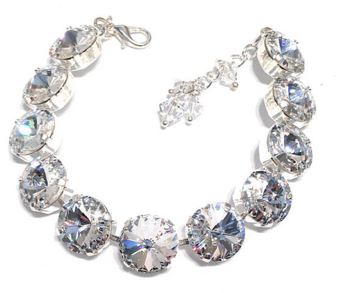 Bridal Clear Rivoli Bracelet with Crystal from Swarovski
