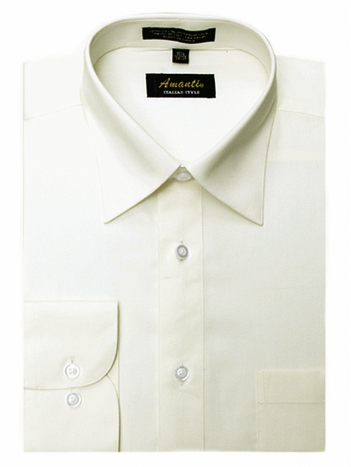 Off white men 39 s classic solid regular fit amanti dress for Classic white dress shirt
