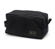 Mesh Toiletry Bag - Black - Front