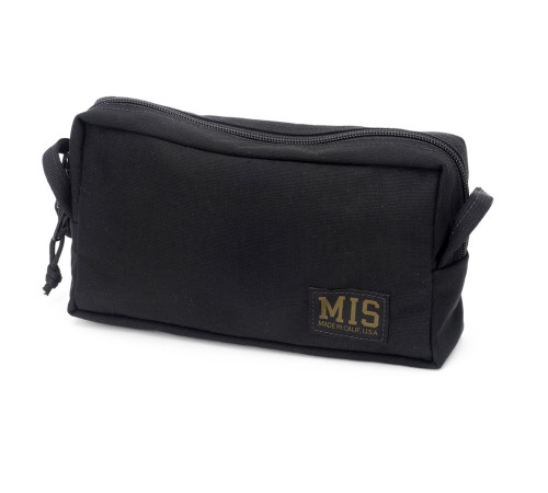 Slim Mesh Toiletry Bag - Black - Front