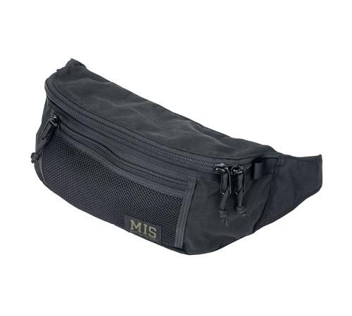 Mesh Waist Bag - Black - Front