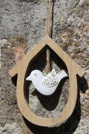 Oval Bird House Hanger