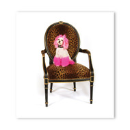 Princess Cheetah Chair Wall Graphic