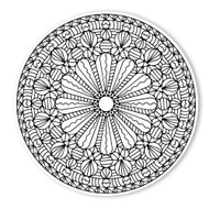 Begsonland Mandala Radiant Flower Doodle Decal