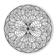 Begsonland Mandala Robot Doodle Decal