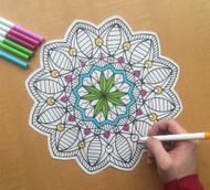 Begsonland Mandala Star Doodle Decal