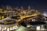 Seattle Waterfront at Night by Alex Levine