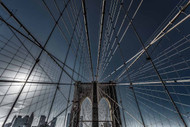 New York City Brooklyn Bridge Lines by Michael Jurek