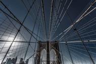 New York City Brooklyn Bridge Lines by Michael Jurek