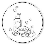 Caleb Gray Studio Coloring: Bath Tub Ducky Soap
