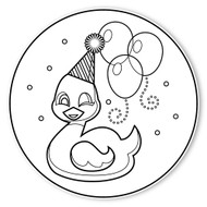 Caleb Gray Studio Coloring: Busy Ducky Birthday