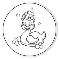 Caleb Gray Studio Coloring: Bath Tub Ducky Suds
