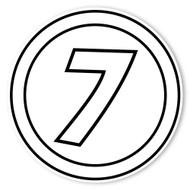 Caleb Gray Studio Coloring: Racing Number 7