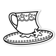 Caleb Gray Studio Coloring: Tea Party Teacup & Saucer