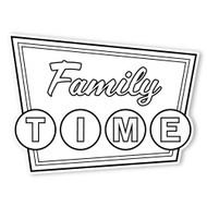 Caleb Gray Studio Coloring: Family Time Retro Sign