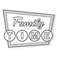 Caleb Gray Studio Coloring: Family Time Retro Sign