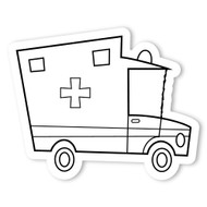 Caleb Gray Studio Coloring: Ambulance