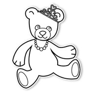 Caleb Gray Studio Coloring: Teddy Bear Tiara