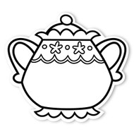 Caleb Gray Studio Coloring: Tea Party Sugar Bowl