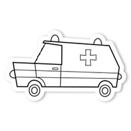 Caleb Gray Studio Coloring: Ambulance Van