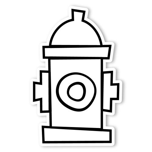 Caleb gray studio coloring fire hydrant walls 360 for Fire hydrant coloring page