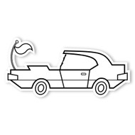 Caleb Gray Studio Coloring: Muscle Car Antenna Tail