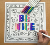 Begsonland Be Nice Doodle Decal