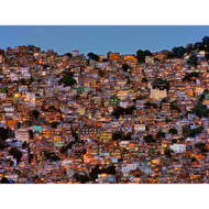 Nightfall in the Favela da Rocinha by Adelino Alves