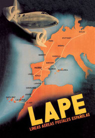 LAPE - Spanish Postal Airlines European Routes