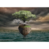 Floating Tree Over Sea by Radoslav Penchev