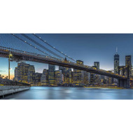 New York - Blue Hour Over Manhattan by Michael Jurek